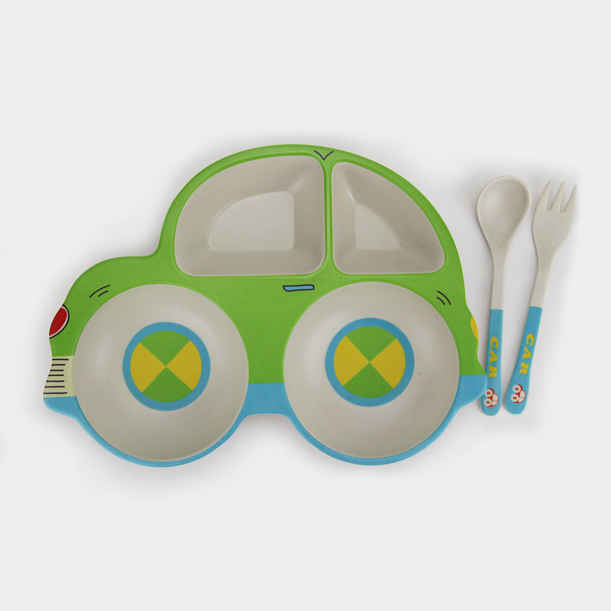 Food Grade Kids Dinner Set Bamboo Fiber Dinnerware Set