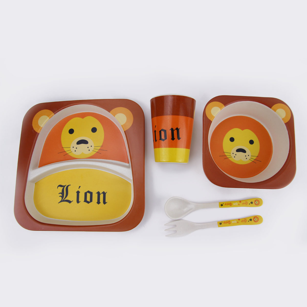 Wholesale Bamboo Fiber Kids Dinnerware Sets