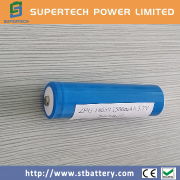 High quality recharge 3.7V 1500mAh battery li ion 18650 lithium ion battery