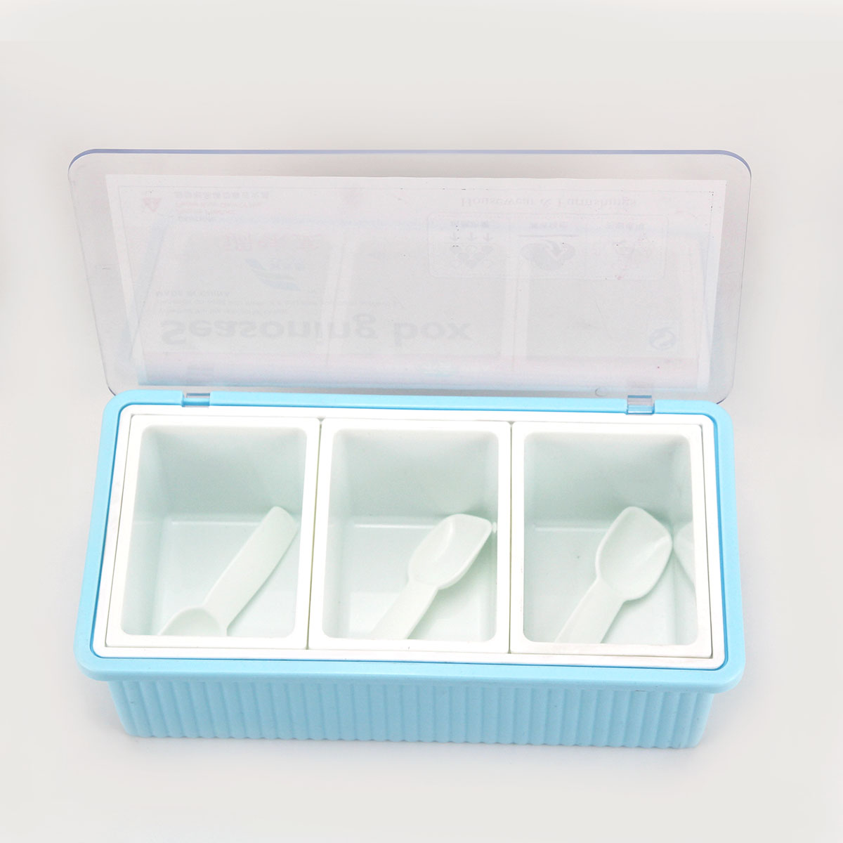 Eco-Friendly Plastic 260ml*3 Seasoning Box Set