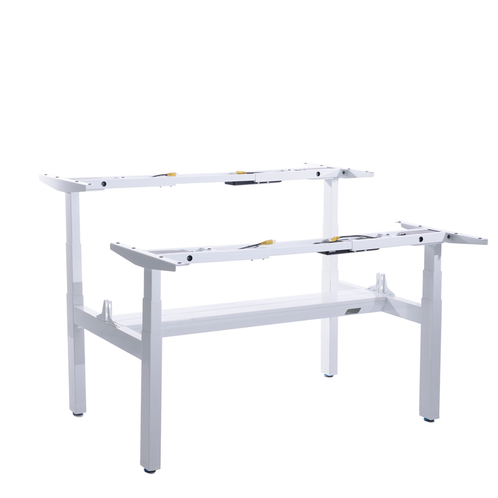 Classic Face to Face Electronic Adjustable Standing Desk for Two People