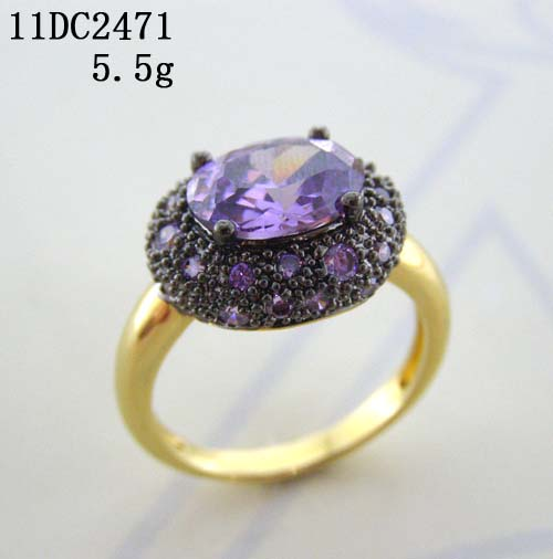Jewelry factory -- black rhodium and 18k gold plated fashion ring