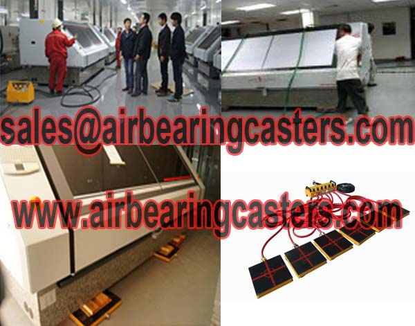 Air castersmove cleanroom machineryis used worldwide