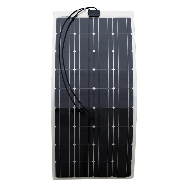 Semi-flexible 100 Watt 12V Solar Panel with High-Efficiency Monocrystalline Solar Cell
