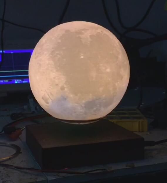 360 spining magnetic floating levitating moon lamp bulb