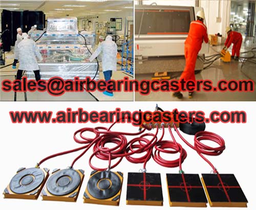 Air bearings for transporting heavy cargo