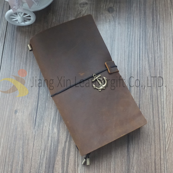 Rifillable Vintage Leather Journal Notebook,Office Small Leather Notebook
