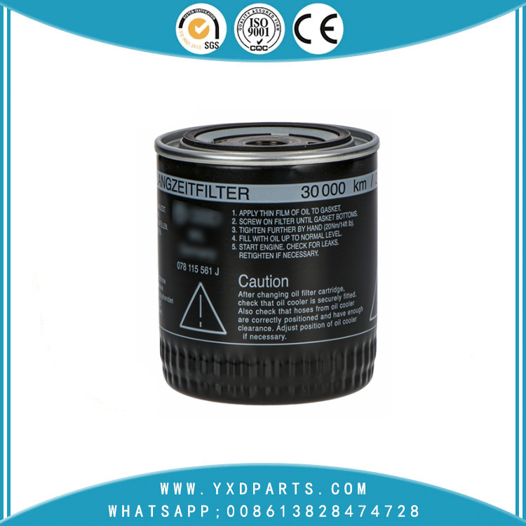 078115561J oil filter manufacturers for VW Audi car Engine auto parts factory