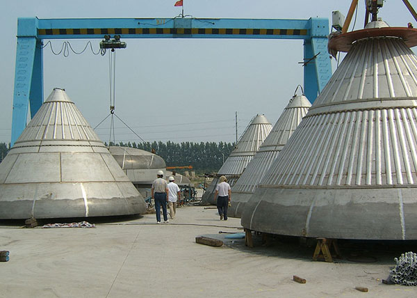 Common Carbon Steel Steam Boiler Conical Head
