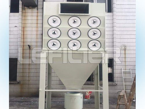 Carbon steel cement cartridge dust collector