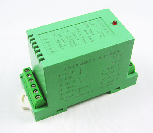 four channel analogy Positive and Negative isolation input to RS232/485 Converter(LED Display)