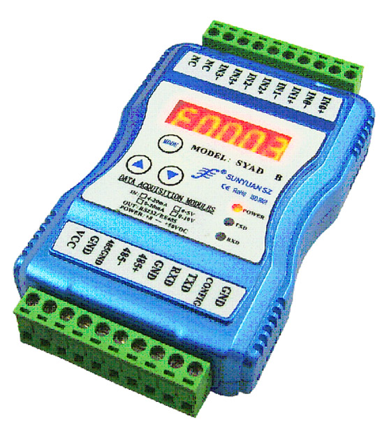 J/K/T/E/R/S/B Type Thermocouple Signal to RS232 or RS485 Converter SYAD-08T Series-