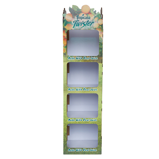 Corrugated Floor Display For Juice