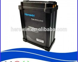DJI supplier Herewin new designed 12000mah/16000mah 12s 44.4v li polymer battery prototype for smart