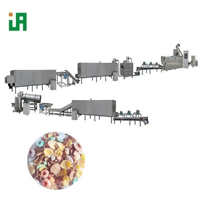 Puffed Breakfast Cereals Corn Flakes Factory Processing Line Machine