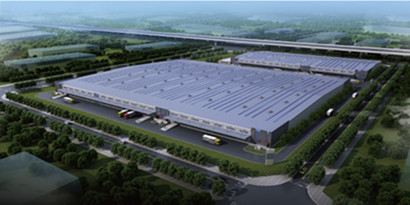 single-storey large-span light steel structure Logistics Warehouse