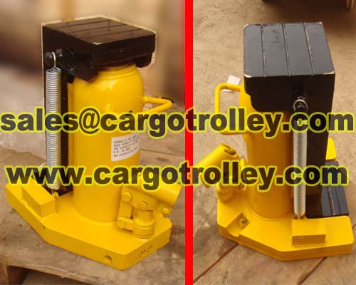 Hydraulic toe jack Instructions for use