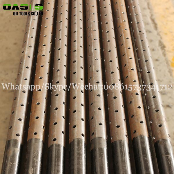 Perforated holes pipe API standard K55 grade casing pipe