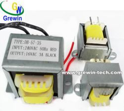 Ei Laminated Transformer with Wire Leads or PCB Mounting