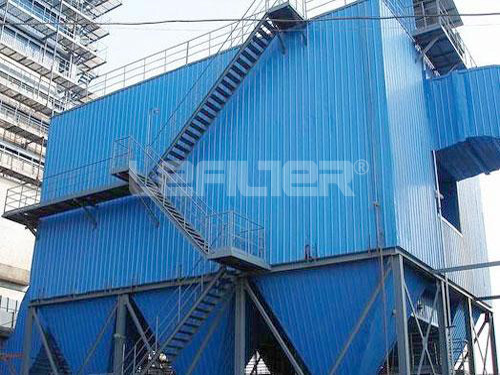 Long bag filter low pressure pulse type dust collector