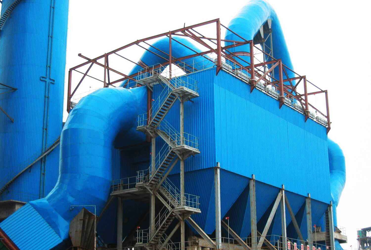 Industrial portable pulse bag type dust collector