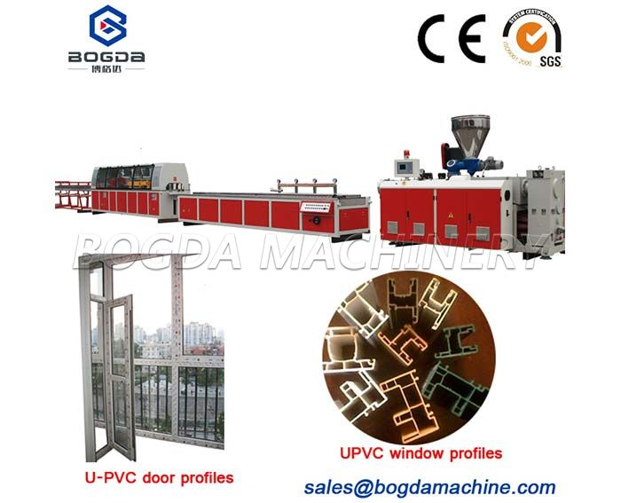 Plastic UPVC Window and Door profile extrusion machine
