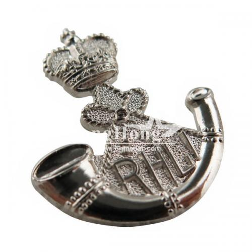 RLHI 3D Metal Military Badge In Nickel Plating