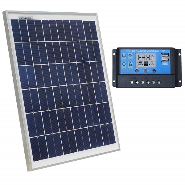 20W 12V Polycrystalline Solar Panel Charging Kit