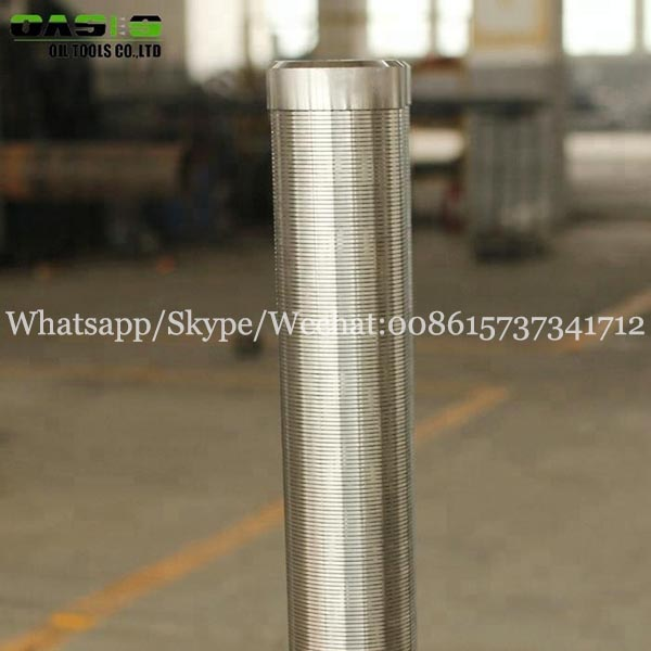 304 stainless steel water well Johnson screen filter tube