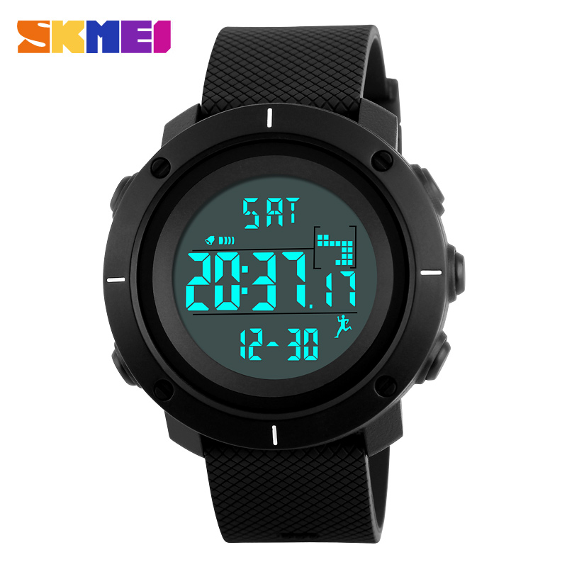 Unique design watch stopwatch pedometer and data storage digital led watch