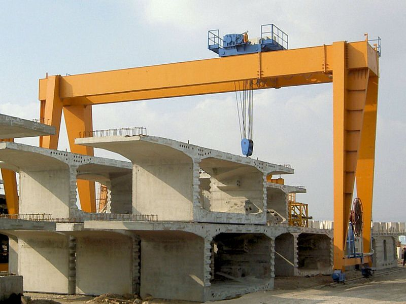 Hot Sale Double Beam Rubber Tyred Mobile Gantry Cranes