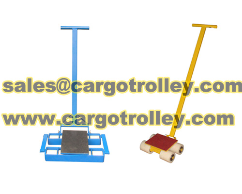 Moving roller dolly transport tool