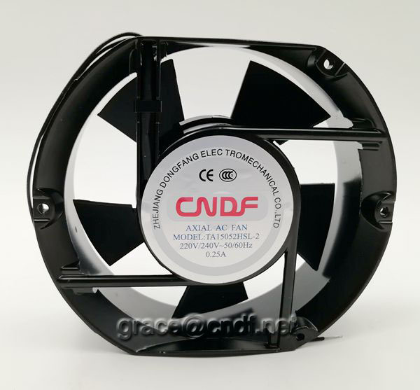 CNDF  made in china factory ac cooling fan 170x150x52mm 110/120VAC 50/60Hz  with high speed 2800rpm TA15052HSL-1