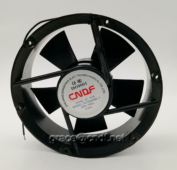 CNDF made in china 9inch ac cooling fan with 110/120VAc 2 ball bearing TA22060HBL-1  220x220x60mm ac cooling fan