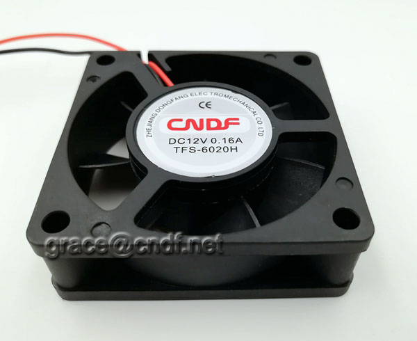 CNDF made in china factory 24VDC 12VDC fan 60x60x20mm with CE 2 years warranty use for refrigerator cooling brushless fan