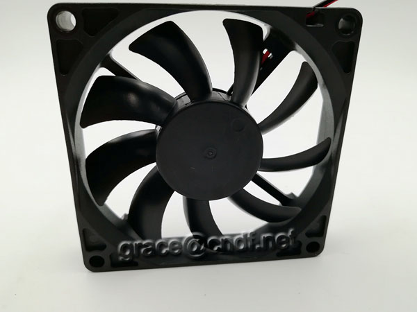 CNDF manufacturer production 80x80x15mm dc brushless cooling fan 2 pin 12VDC 24VDC  silent fan