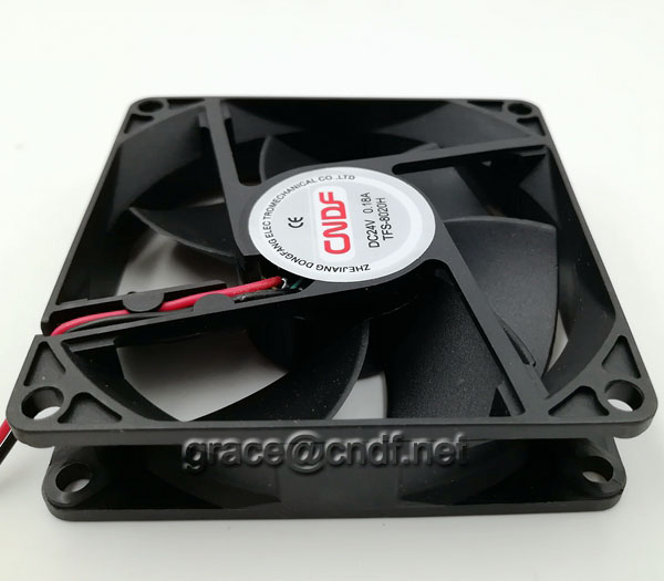 CNDF have stock with good quanlity dc fan 80x80x20mm 24VDC 0.14A 3.36W 3500rpm