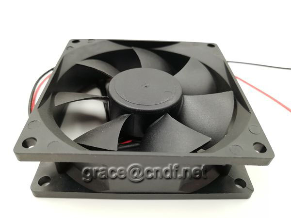 CNDF main production axial cooling fan factory provide free sample test 80x80x25mm with CE and 2 years warranty