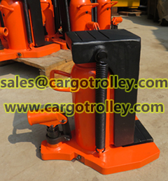 Hydraulic jack for heavy loads