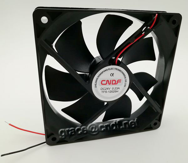 CNDF made in china from factory 120x120x38mm 12VDC cooling fan 0.93A 11.16W have CE with 2 years warranty TFS12038H12