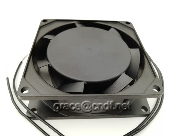 CNDF made in china 2 lead wire connect ac aluminum cooling fan TA8025HSL-1 80x80x25mm