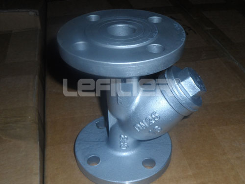 Flange connection Y type strainer for water treatment