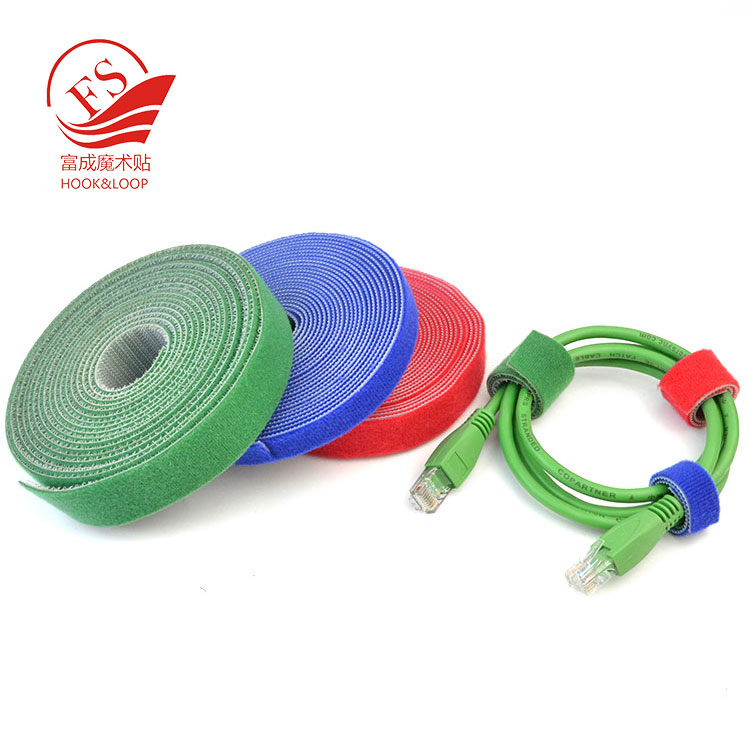 Heavy duty double ball self-locking back to back hook loop tape strips