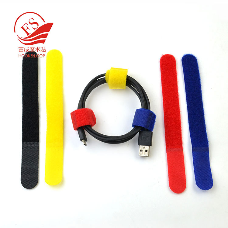 Self Gripping Multi-Purpose Straight line Hook and Loop cable tie wrap