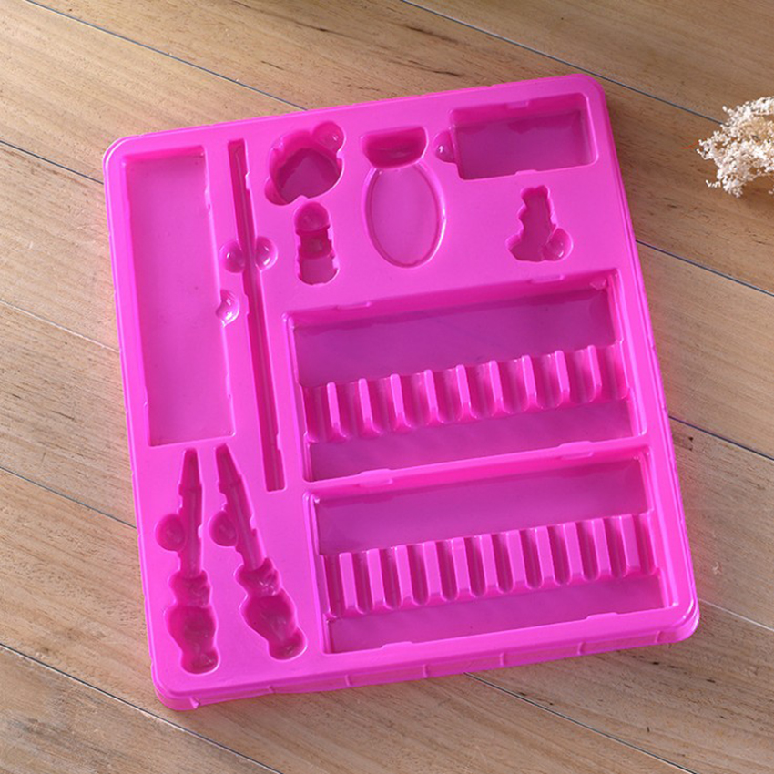 Custom Pink Plastic Blister Inserts Tray For Stationery Packaging
