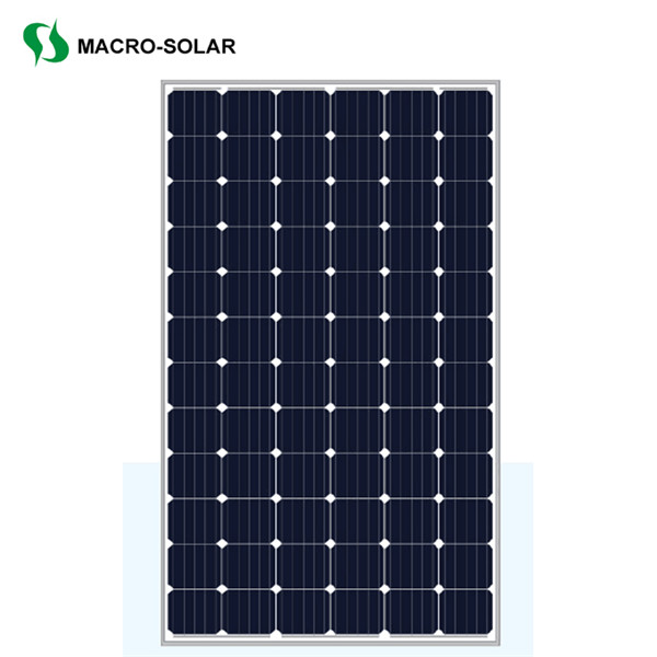 High efficiency 350w monocrystalline solar panel for solar power station
