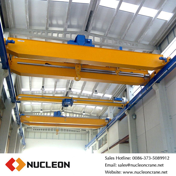 Small Weight and Size Double Girder Overhead Crane for Workshop