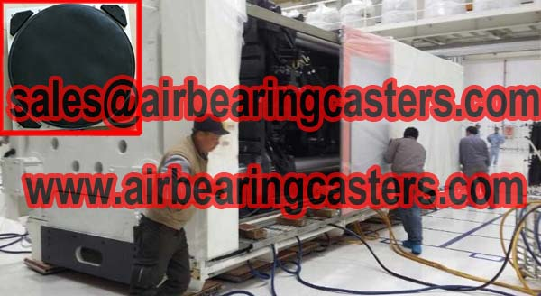 Air caster rigging systems application and manual instruction