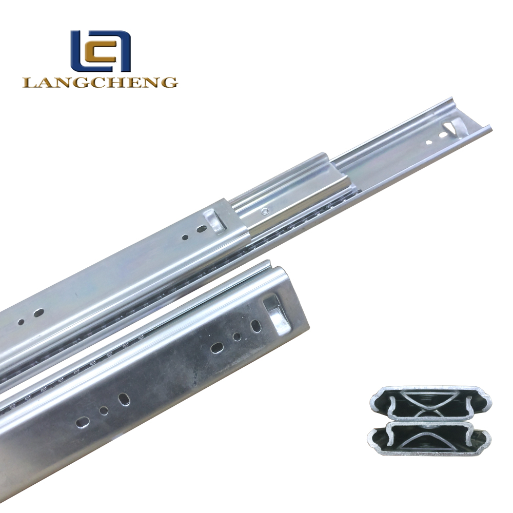 steel ball bearing telescopic dining table extension glide slide