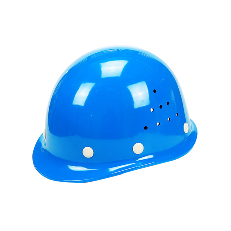 ABS Material Round Shape Safety Helmet With Chin Strap